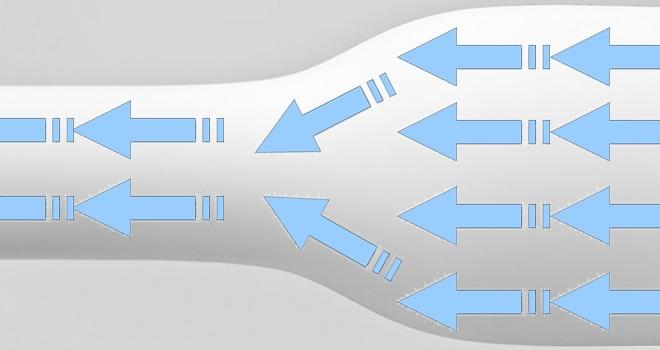 Imagen representativa de lo que es un cuello de botella en informática